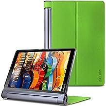 Lenovo Yoga Tab 3 Pro/ Plus 10 Funda-Infiland Ultra Delgada Tri-Fold Case Cover PU Cuero Cascara con Soporte para  Lenovo Yoga Tab 3 10 Pro / Yoga Tab 3 Plus 10.1 pulgadas Tablet (Verde)