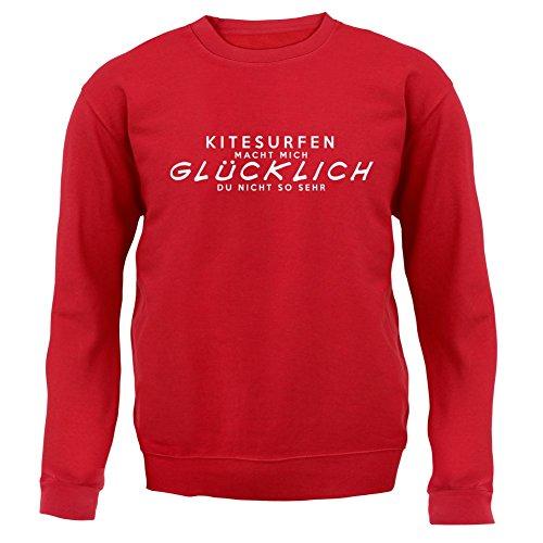 Kitesurfen macht mich glücklich - Unisex Pullover/Sweatshirt - 8 Farben Rot