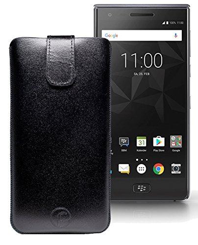 Original Favory Etui Tasche für BlackBerry Motion | Leder Etui Handytasche Ledertasche Schutzhülle Case Hülle Lasche mit Rückzugfunktion* in schwarz