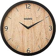 "Amazon Brand - Solimo 12"" Wall Clock - Paramount Paneling (Silent Movement, Black F"