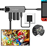 Nintendo Switch Typ C Hub Multistecker Adapter - innoAura USB C Dock Station mit 4K HDMI Konverter, USB-C PD Ladeport, Gigabit Ethernet, 2 USB 3.0 Ports f�r Nintendo Switch, Arbeit als Nintendo Switch Dock Bild
