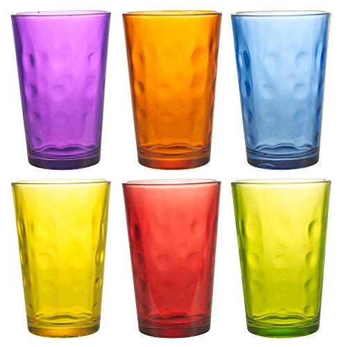 6farbige 240ml Drink Gläser Set