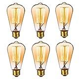 6 x Edison Vintage Glühbirne E27 40W