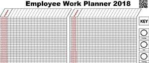 2018 staff employee 365 day holiday work planner chart a1 jan dec