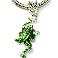 Charm Buddy Green Frog Pendant Dangle Charm for Charm Bracelets Girls Ladies Kids Jewellery
