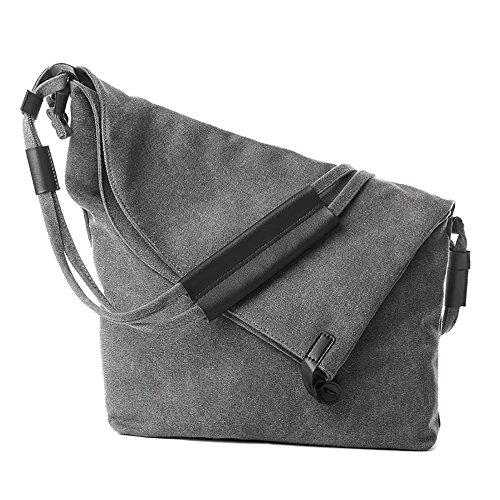 Vosamis Damen Tasche retro Umhängetasche Hochwertige Schultertasche Canvas Hochschule Messenger Bag (Retro Messenger Bag Canvas)