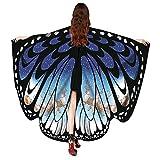 VEMOW 2018 Neue Mode Frauen Weihnachten Karneval 168 * 136CM Flügel Kostüm Schmetterling Flügel Schal Schals Poncho Kostüm Zubehör (X1-Blau, 168X136CM)