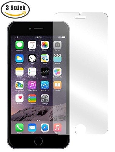 Leisial 3 Stück Glas Schutzfolie für iPhone 6 6S Panzerglas Displayschutzfolie 3D Touch Kompatibel 9H Härtegrad Full HD Transparenz Anti-Öl Kratzer Blasen und Fingerabdruck