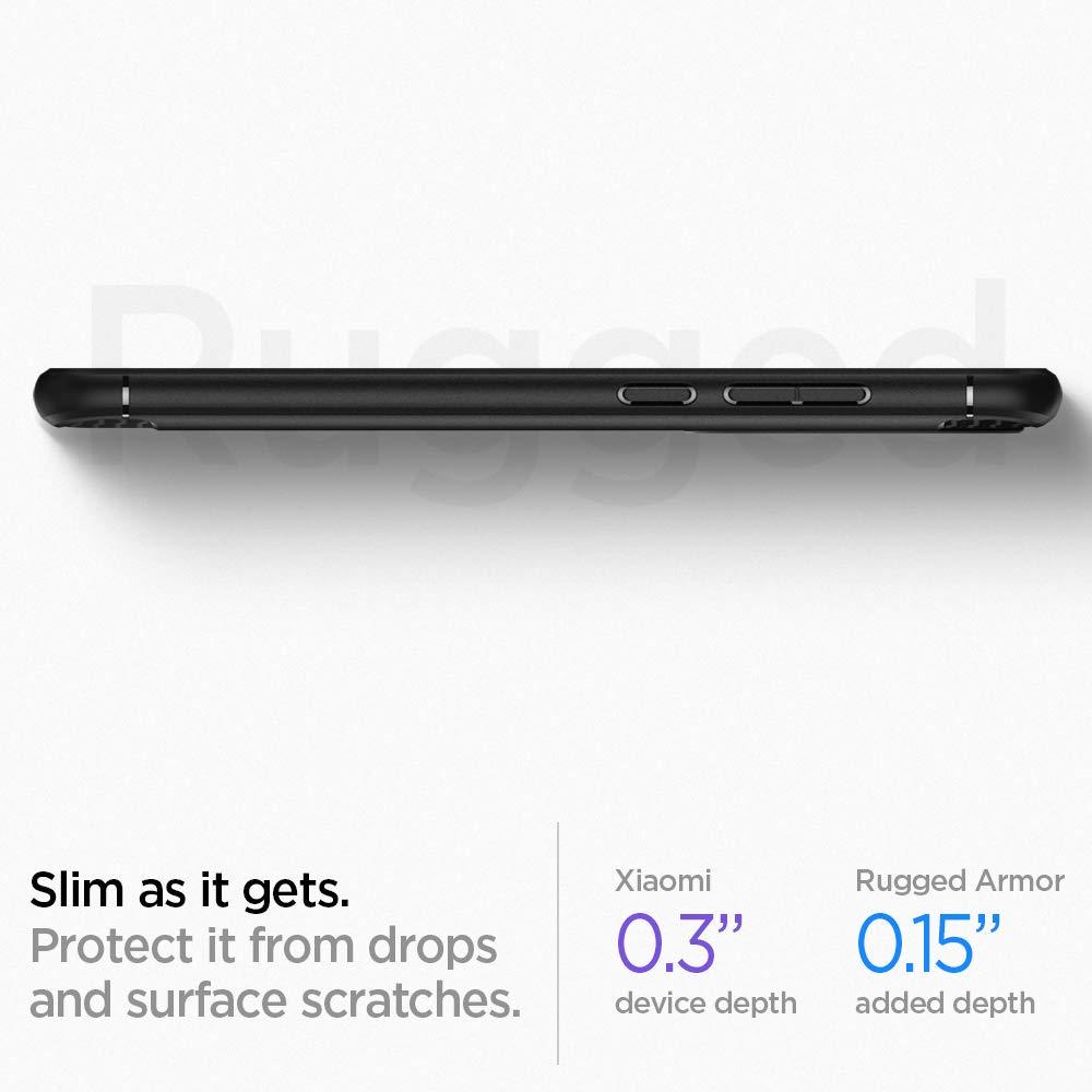 Spigen Cover Xiaomi Redmi Note 8 Rugged Armor Progettato per