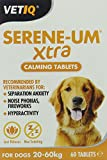 VetIQ Serene-UM Xtra 60 Tablets, Natural Calming Tablets With  L-Tryptophan For Separation, Anxiety And Stress Relief In Nervous dogs over 20kgs