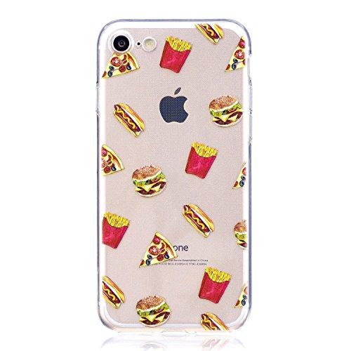 iPhone 6S Plus Hülle,iPhone 6 Plus Hülle,iPhone 6S Plus/6 Plus Silikon Hülle Tasche Handyhülle,SainCat Flamingos Flamingos Muster Ultra dünne Silikon Hülle Schutzhülle Durchsichtig Hadytasche Stoßfest Hamburger