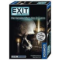 KOSMOS-Spiele-694289-EXIT-Das-Spiel-Die-Katakomben-des-Grauens-2-teiliges-Spiel KOSMOS 694289 – EXIT – Das Spiel – Die Katakomben des Grauens – das 2-teilige Abenteuer in 1 Box, Level: Fortgeschrittene, Escape Room Spiel -