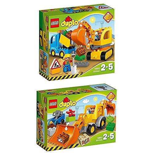 LEGO Duplo 2er Set 10811 10812 Baggerlader + Bagger mit LKW