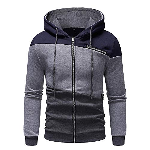 Clearance Sale [M-2XL] ODRD Hoodie Männer Sweatshirt Herren Zipper Outwear Sweatjacke Sweater Parka Cardigan Lässige Mantel Kapuzenpulli Pulli Pullover Jacket Jacke Hooded Party Walking (Hooded Männer Down Mantel)