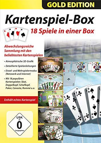 18 Kartenspiele in einer Box - Skat, Doppelkopf, Schafkopf, Poker, Canasta, Romme für Windows 10 / 8 / 7