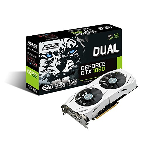 Asus Dual-GTX1060-6G Gaming Nvidia GeForce Grafikkarte (PCIe 3.0, 6GB DDR5 Speicher, HDMI, DVI, Displayport) (Geforce Grafikkarten 980)