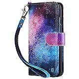 ULAK Cover per iPhone 6s, iPhone 6 Custodia Retro Fiore Modello Stampata Design con Cinturino da Polso Custodia in Pelle Protettiva Cuoio Portafoglio Flip Cover per Apple iPhone 6/6S, Mandala
