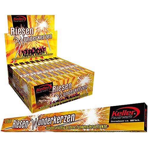 Keller Feuerwerk 1000 Riesenwunderkerzen im Thekendisplay Brenndauer 60 Sekunden 100 Packungen x 10 Stück -