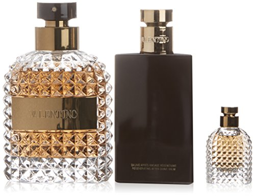 Valentino Uomo Geschenkset (Eau de Toilette Spray 100ml + After Shave Balm 100ml + EdT 4ml) - 4 Ml Eau De Parfum Spray