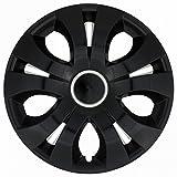 Radkappen / 4 x Universal Radzierblenden - TOP RING BLACK (17')