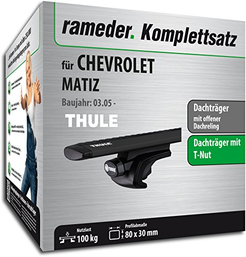 Rameder Komplettsatz, Dachträger WingBar EVO für Chevrolet MATIZ (118181-05400-35)
