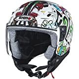Casco de moto jet niño SHIRO SH-20 Comics KIDS-, color blanco