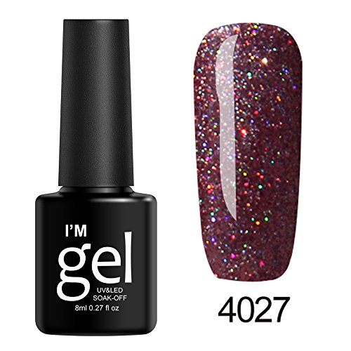 Vernis à Ongles Brillante UV Gel,Polish Soak Off Nail Art Topcoat Base Coat Gel Vernis Bringbring
