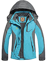 a150e3dcda7e9 GITVIENAR Femme Imperméable Coupe-Vent Capuche Veste Softshell Outdoor Sport  Camping Randonnée Trekking Manteau