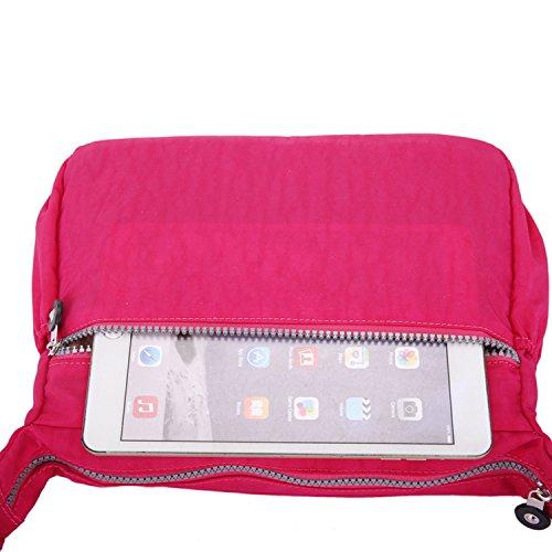 Outreo Umhängetasche Mode Reisetasche Leichter Messenger Bag Lässige Kuriertasche Damen Taschen Wasserdicht Schultertasche Mädchen Sporttasche Rot 1