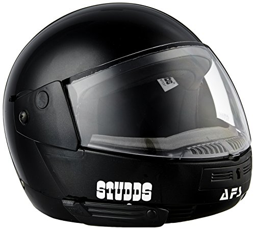 Studds Ninja Pastel Plain SUS_NPPFFH_BLKL Full Face Helmet (Black, L)