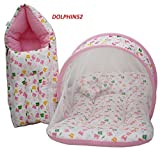 #10: Dolphin52 Baby Bed Set 0 To 4 Months Baby (Pink)