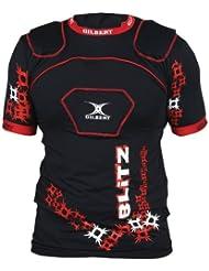 Blitz - Epaulière de Rugby - Noir/Rouge
