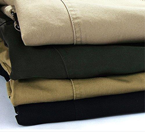 BININBOX@Herren fashionable Jacke langen Abschnitt Jacket Übergangsjacke Windjacke Windbreaker für Herbst/Winter Schwarz