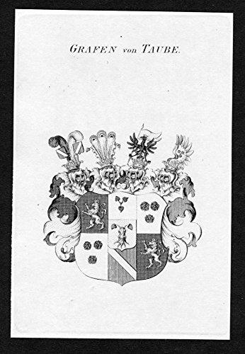 Grafen von Taube - Taube Wappen Adel coat of arms heraldry Heraldik Kupferstich engraving - Taube Wappen