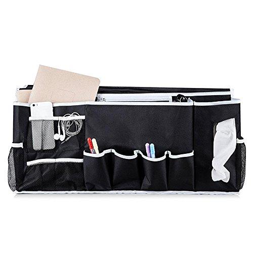 Alian Nachttischtasche mit Hochwertiger Oxford Schultertasche mit 12 Taschen