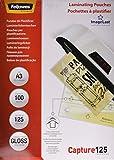 Fellowes ImageLast - Pack de 100 fundas de plastificar formato A3, 125 micras