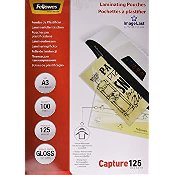 100er Pack Fellowes ImageLast Laminierfolien 125 Mikron DIN A4