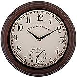Fallen Fruits TF007 - Reloj de Pared con termómetro