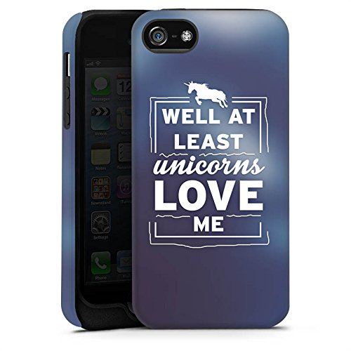 Apple iPhone X Silikon Hülle Case Schutzhülle Unicorn Einhorn Sprüche Tough Case matt