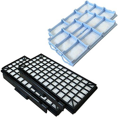 Staubbeutel24 Set 2 HEPA Filter + 2 Motorfilter geeignet Für Siemens VSQ5X1230/01 Q5.0 Extreme