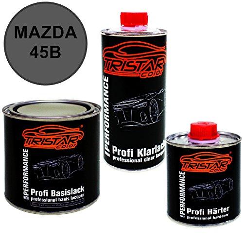 Preisvergleich Produktbild 1,25 Liter 2K Lack Set MAZDA 45B ETARNAL BLUE P. ab 2016 - Profi Autolack spritzfertig & Klarlack & Härter