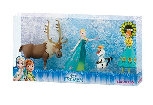 Bullyland 12084 - Walt Disney Frozen Fever, Spielfigurenset, Anna, Elsa, Olaf und Sven, bunt -
