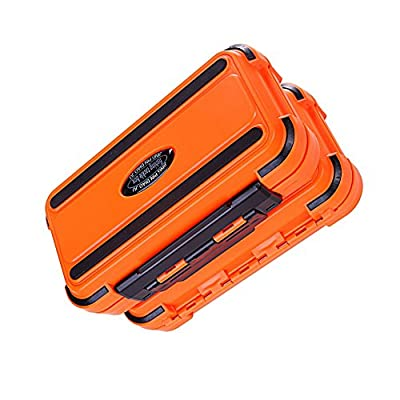 Portable 24 Compartments Double Layer Durable Fishing Lure Tackle Plastic Storage Box from Goodtimes28