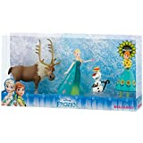 Bullyland 12084 - Spielfigurenset, Walt Disney Fiebre congelado, Anna, Elsa, Olaf y Sven, colorido