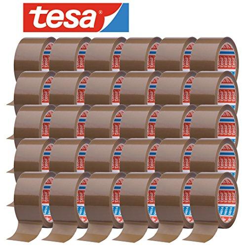 tesa 64014 Klebeband Paketklebeband Packband 66m x 50mm (30 Rollen, Braun)