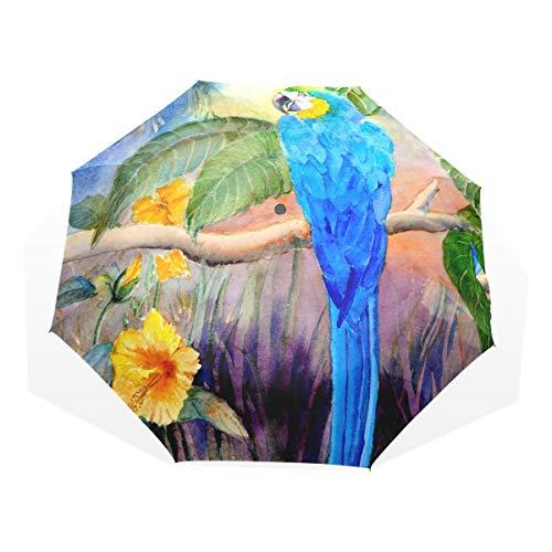 XiangHeFu Anti-UV-Regenschirm AST Papagei Vogel 3 Falten Leichtgewicht -