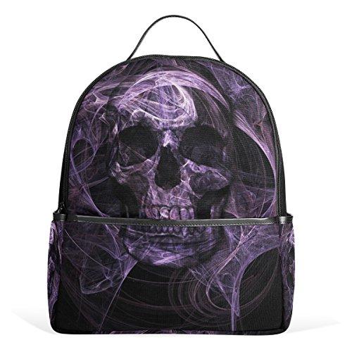 My Daily Skelett Totenkopf Casual Rucksack Individuelle Rucksack für Schule Travel Outdoor Tagesrucksack mit Doppelreißverschluss