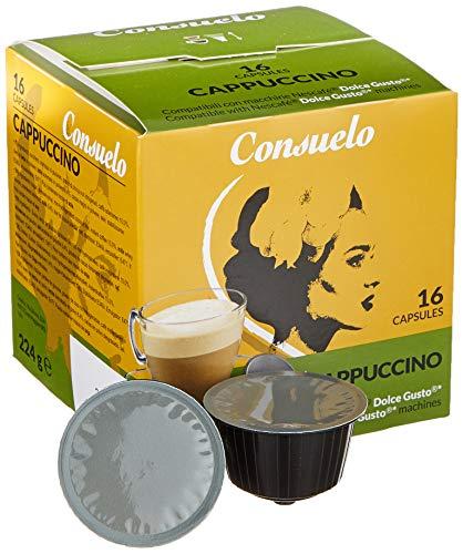 Consuelo Dolce Gusto* Kompatible Kapseln - Cappuccino, 96 Kapseln (16 x 6)