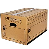 MERRIMEN Heavy Duty Double Wall Cardboard Moving and Storage Boxes with Handles