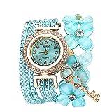 Damenuhr,Gaddrt Flowers Geneva Watches Modische Stilvolle Quarz Armband Damen Diamant Uhr (Minzgrün)